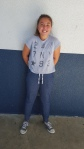 Mia, seventh grade, is wearing very warm joggers. CAMILLE OLEGARIO , STAFF PHOTOGRAPHER
