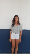 Nishabell, seventh grade, is wearing these shorts that are very comfy and cool for the summer. CAMILLE OLEGARIO, STAFF PHOTOGRAPHER