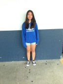 Many kids now are in the school spirit like Chrizelle,eighth grade.  CAMILLE OLEGARIO, STAFF PHOTOGRAPHER