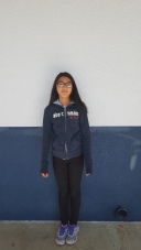 Sarah, sixth grade, is wearing this jacket that keeps you warm during winter. CAMILLE OLEGARIO, STAFF PHOTOGRAPHER