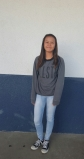 Beryl, eighth grade, wearing a sweatshirt from Hollister.     SAHIAN NUNEZ, STAFF PHOTOGRAPHER