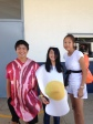 Scotty I., Kimi C. and Chelsea L., seventh grade