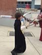 Robert juggles the baton.